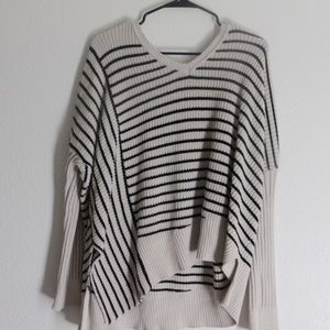Asymmetrical Striped Sweater